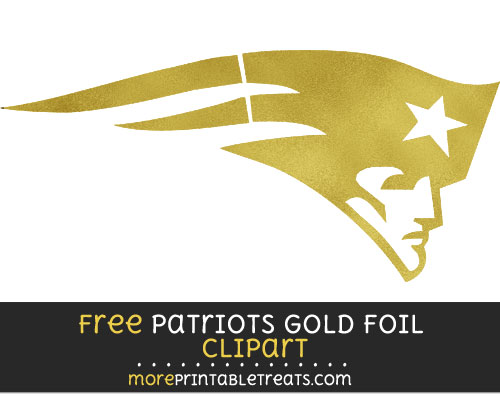 Free New England Patriots Dark Gold Foil Clipart Clear Background