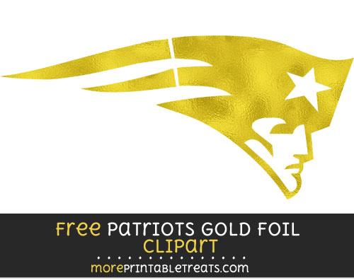 Free New England Patriots Light Gold Foil Clipart Clear Background