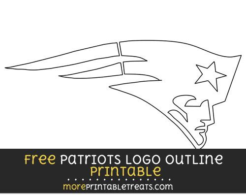 Free Large New England Patriots Logo Outline