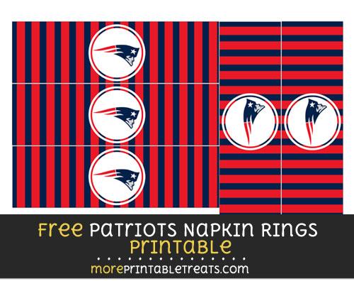 Free New England Patriots Napkin Rings