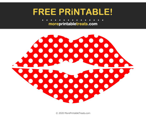 Free Printable Patterned Lips Cut Out