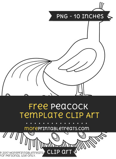 Free Peacock Template - Clipart