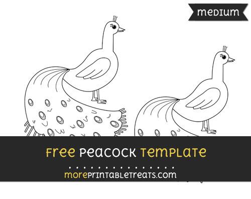 Free Peacock Template - Medium