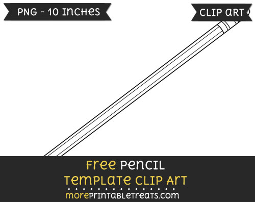 Free Pencil Template - Clipart