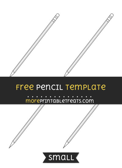Free Pencil Template - Small