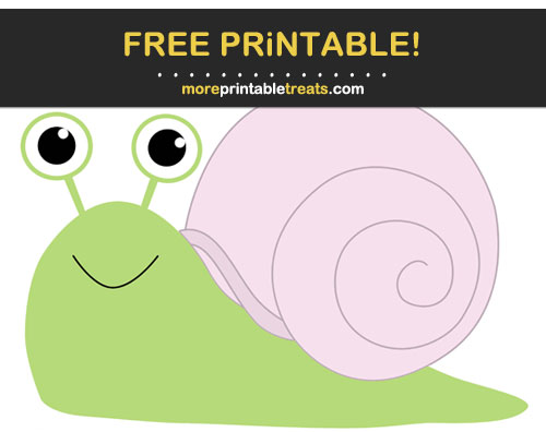 Free Printable Peony Pink-Shelled Snail