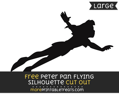 Free Peter Pan Flying Silhouette Cut Out - Large size printable