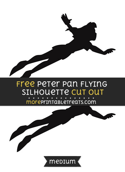 Free Peter Pan Flying Silhouette Cut Out - Medium Size Printable