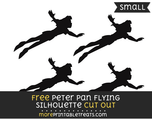 Free Peter Pan Flying Silhouette Cut Out - Small Size Printable
