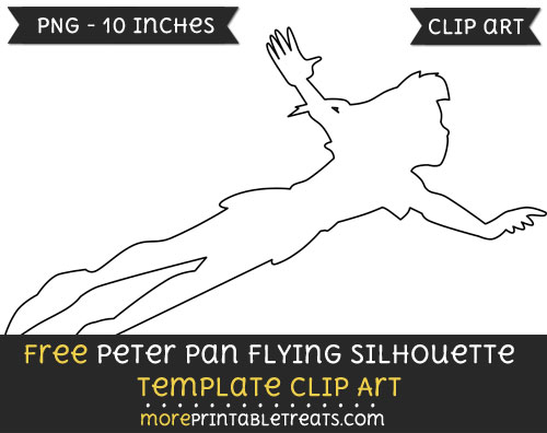Free Peter Pan Flying Silhouette Template - Clipart