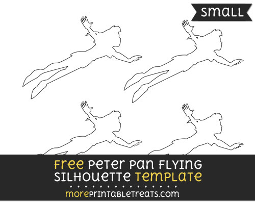 Free Peter Pan Flying Silhouette Template - Small