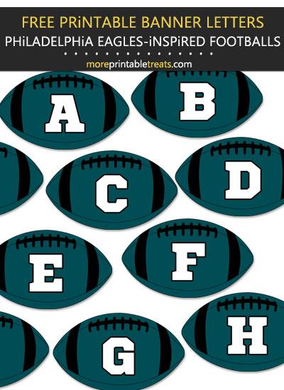Free Printable Philadelphia Eagles-Inspired Football Bunting Banner
