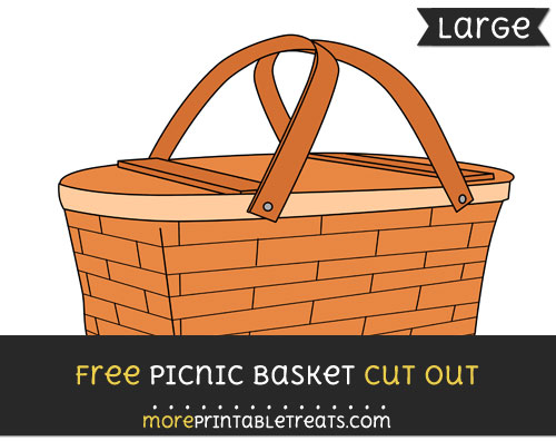 Free Picnic Basket Cut Out - Large size printable