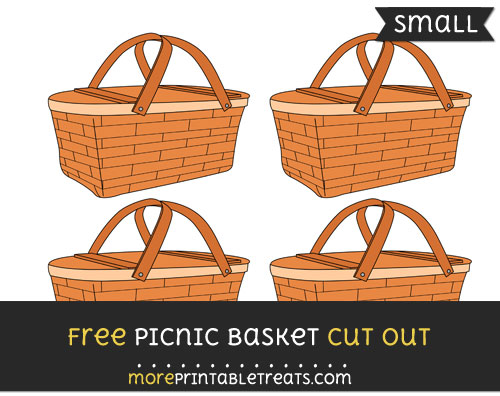 Free Picnic Basket Cut Out - Small Size Printable