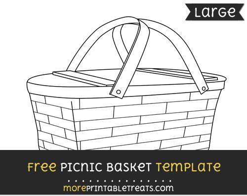 Free Picnic Basket Template - Large