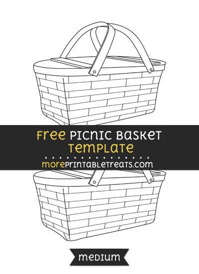 Free Picnic Basket Template - Medium