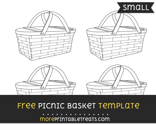 Free Picnic Basket Template - Small