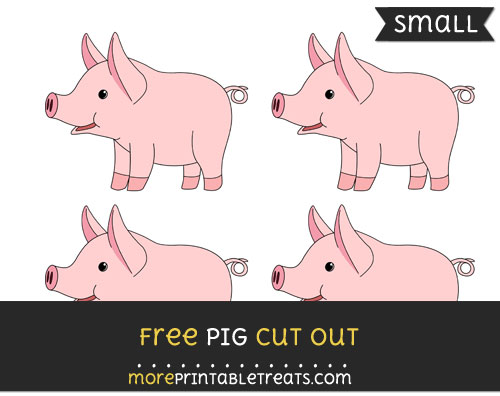 Free Pig Cut Out - Small Size Printable