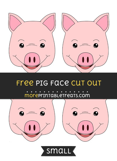 Free Pig Face Cut Out - Small Size Printable