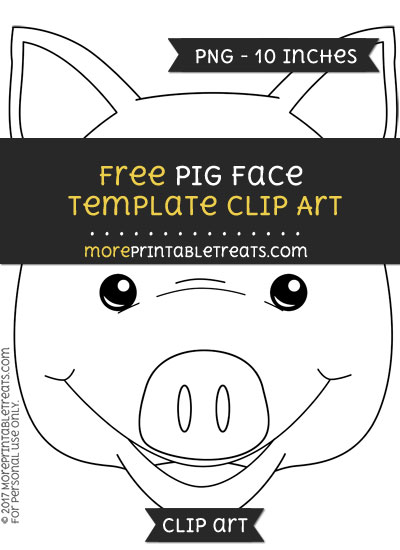 Free Pig Face Template - Clipart