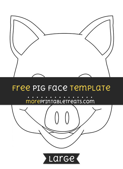 Free Pig Face Template - Large