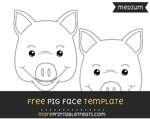 Free Pig Face Template - Medium