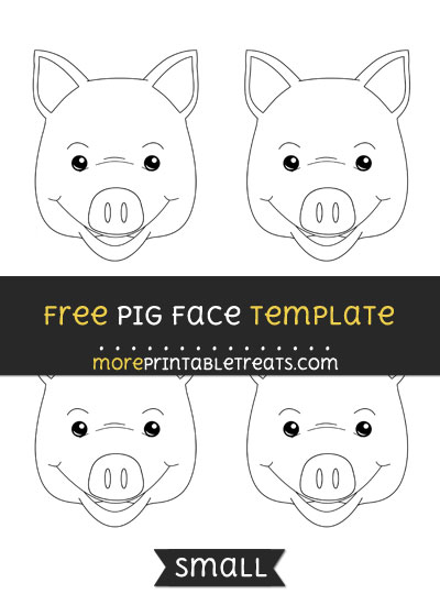 Free Pig Face Template - Small