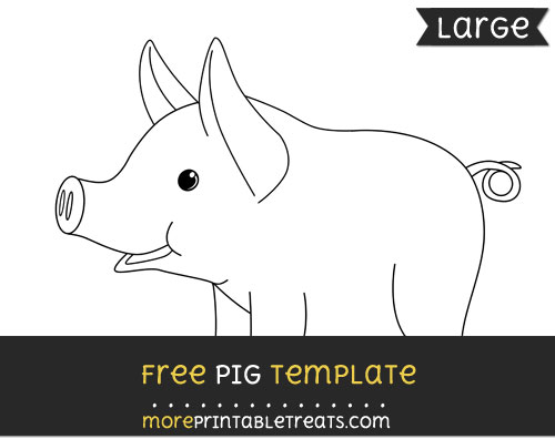 Free Pig Template - Large
