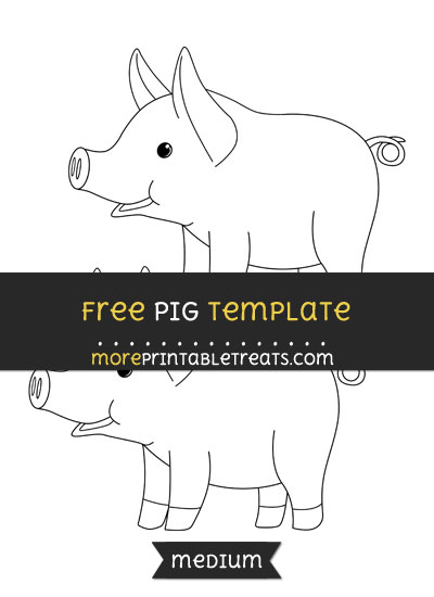 Free Pig Template - Medium