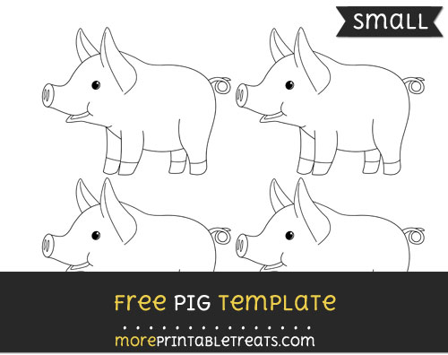 Free Pig Template - Small