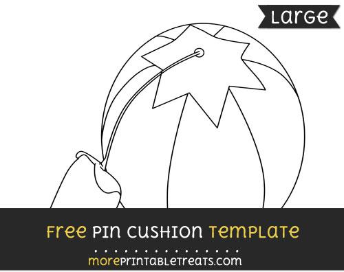 Free Pin Cushion Template - Large