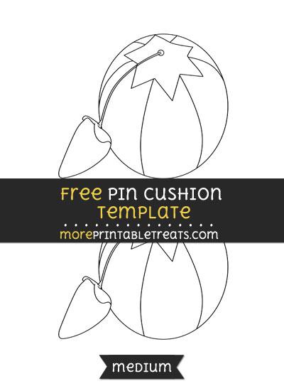 Free Pin Cushion Template - Medium
