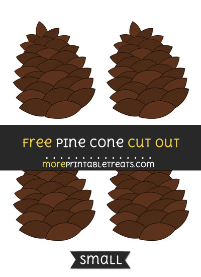 Free Pine Cone Cut Out - Small Size Printable