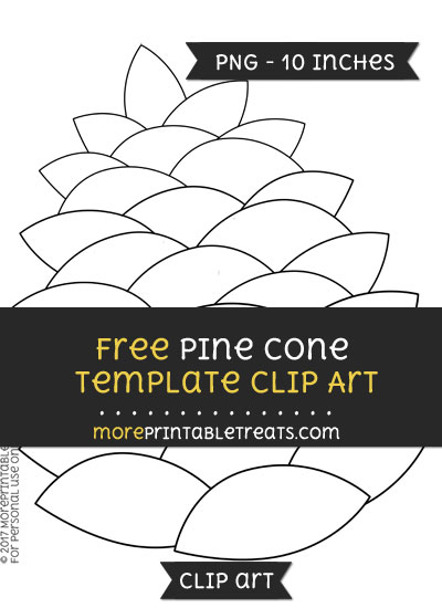 Free Pine Cone Template - Clipart