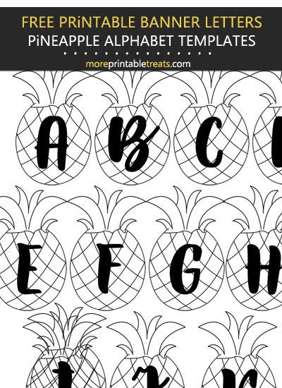 Free Printable Pineapple Alphabet Party Banner Set