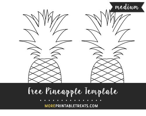 Free Pineapple Template - Medium Size