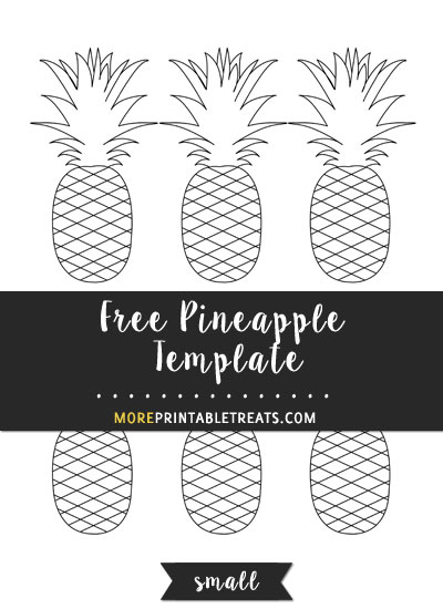 Free Pineapple Template - Small Size