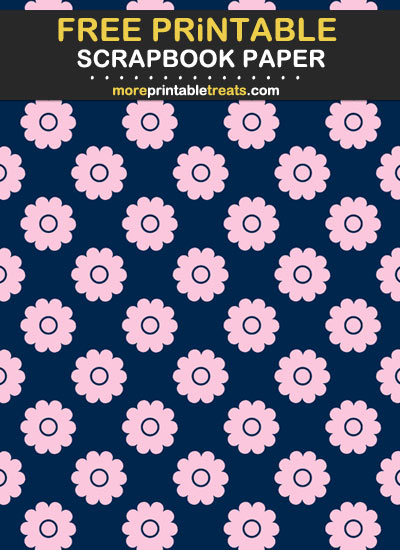 Free Printable Pink and Navy Blue Scrapbook Paper