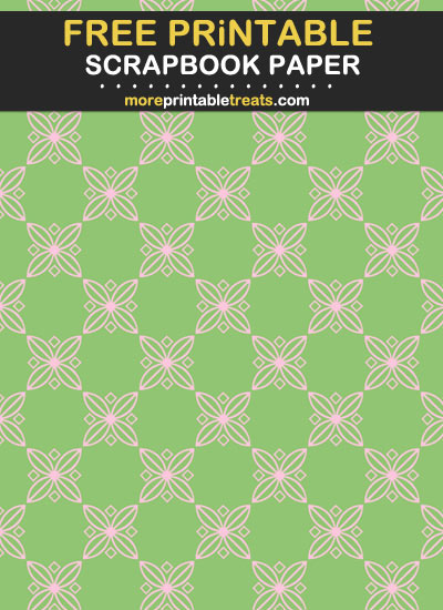 Free Printable Pink and Pistachio Green Scrapbook Paper