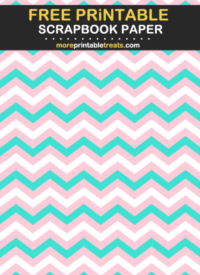 Free Printable Pink and Turquoise Scrapbook Paper