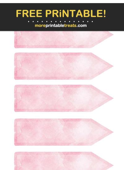 Free Printable Pink Arrow Flag Labels