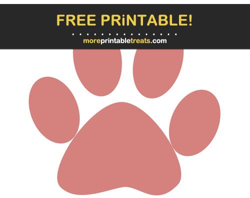 Free Printable Pink Mauve Paw Print