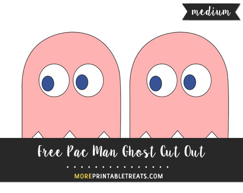 Free Pink Pac Man Ghost (Pinky) Cut Out - Medium
