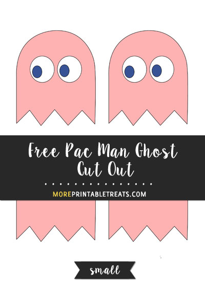Free Pink Pac Man Ghost Cut Out - Small