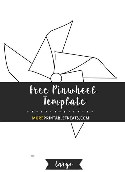 Free Pinwheel Template - Large