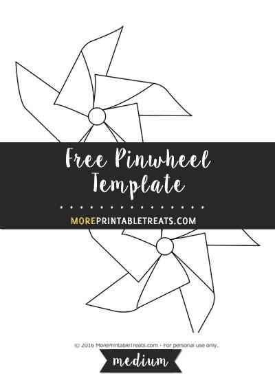 Free Pinwheel Template - Medium