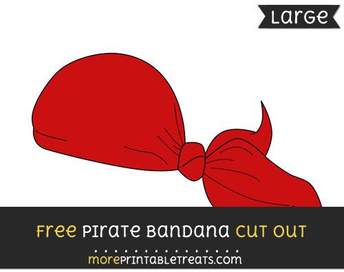 Free Pirate Bandana Cut Out - Large size printable