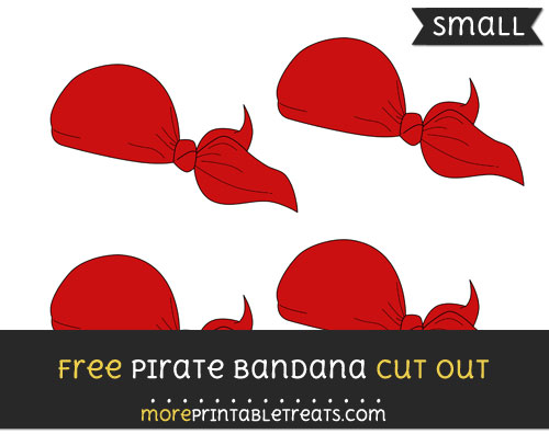 Free Pirate Bandana Cut Out - Small Size Printable
