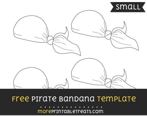 Free Pirate Bandana Template - Small