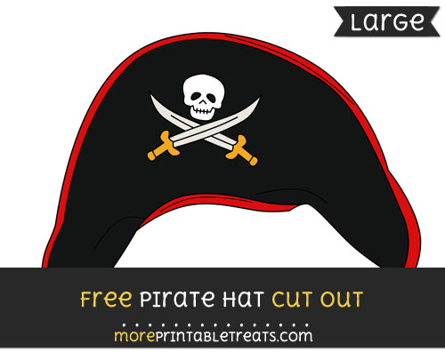Free Pirate Hat Cut Out - Large size printable